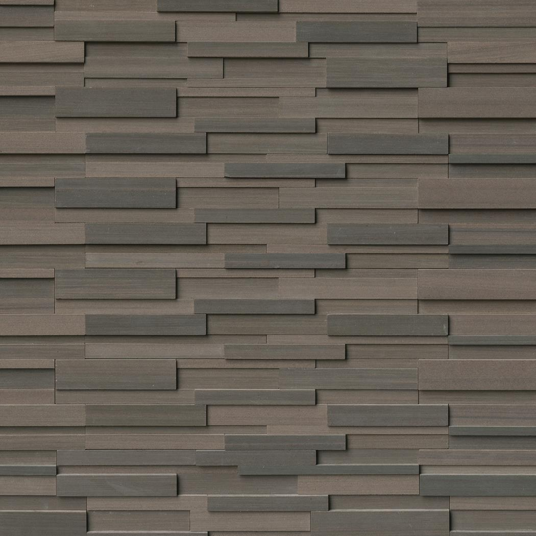 "Rockmount Brown Wave 6"" X 24"" 3D Ledger Panel"