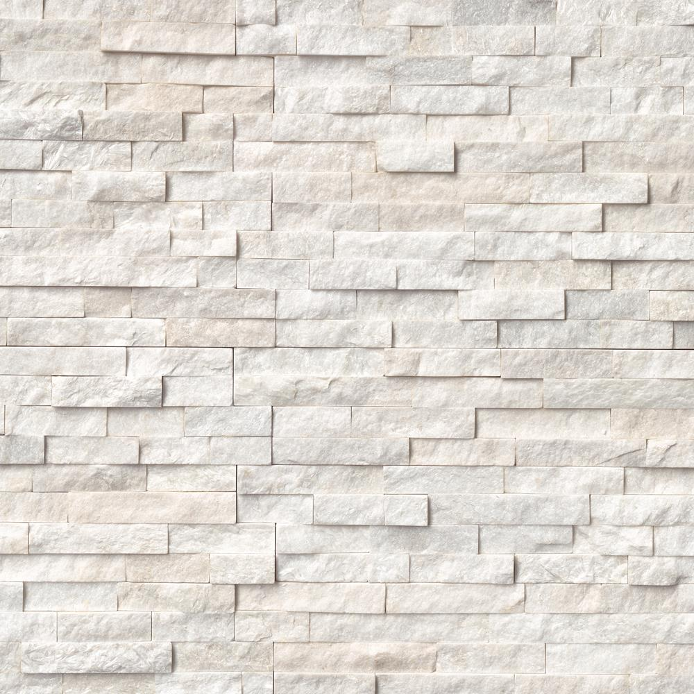 "Rockmount Arctic White 6"" X 24"" Ledger Panel"
