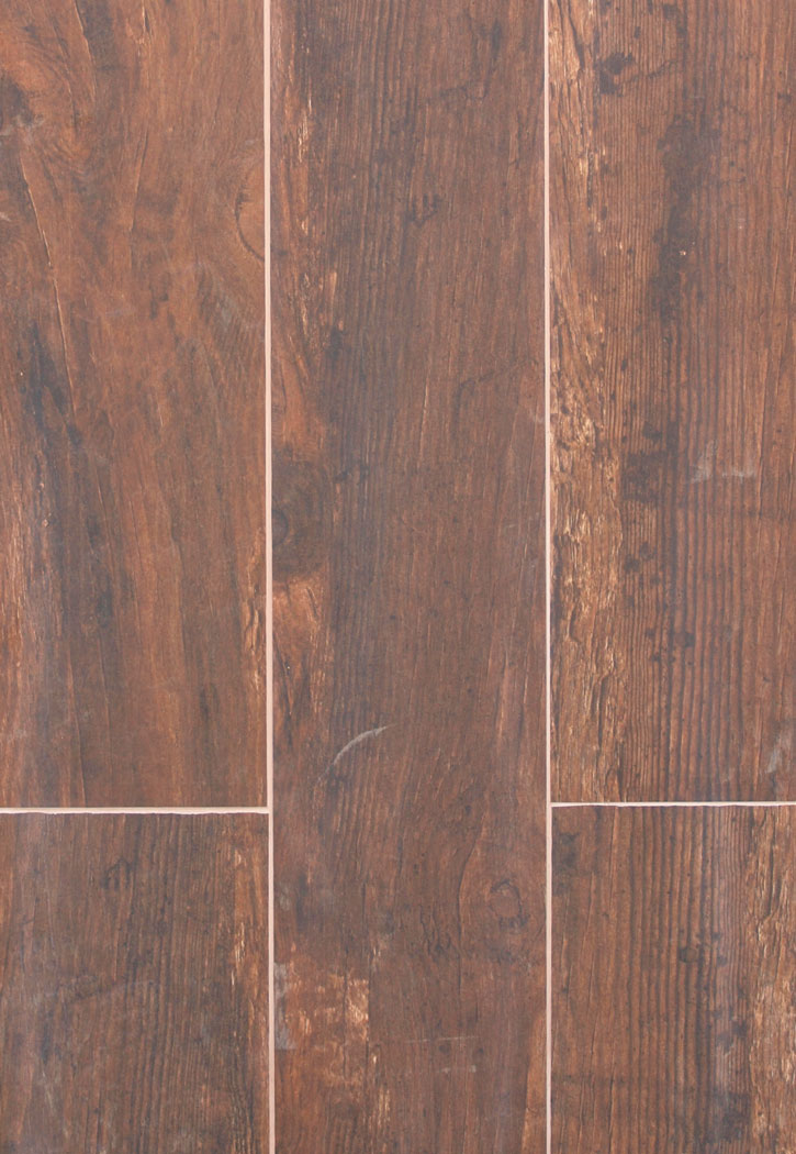 "Redwood Mahogany 6"" X 36"" Porcelain Tile"