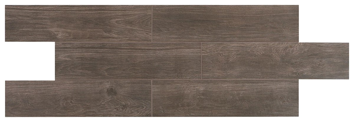 "RevoTile Toasted Brown 6"" X 24"" Porcelain Click Tile"