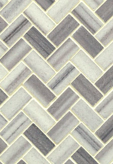 Marmara White Bergamo 10MM Herringbone Polished Mosaic Tile