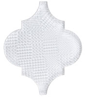 VS421 Textured Versailles White Tulip Mosaic Tile