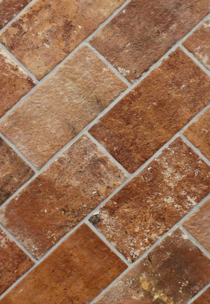 brick tile flooring brick sunset 5 quot x 10 quot porcelain floor tile 28949