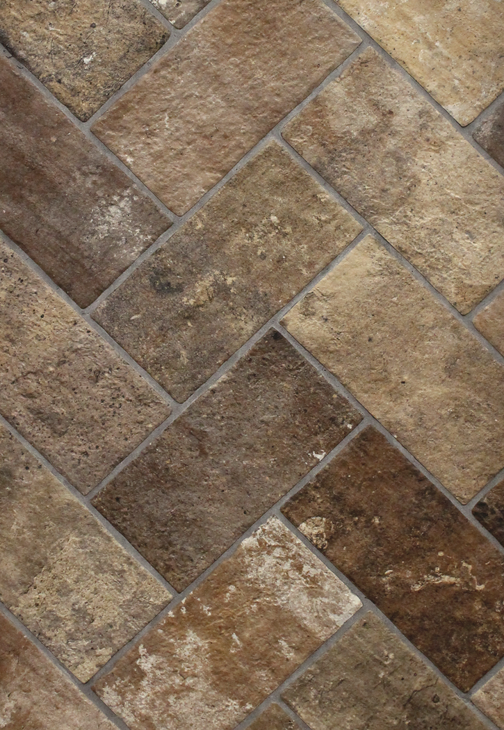 London brick brown 5 x 10 porcelain floor tile for Brick flooring prices