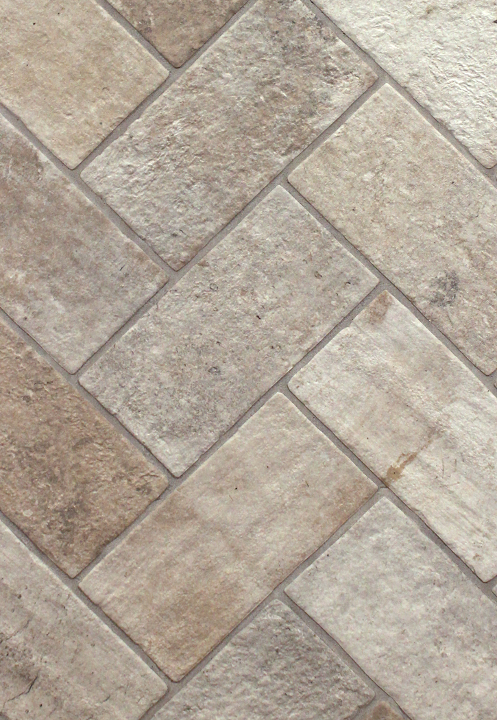 London brick fog 5 x 10 porcelain floor tile for Brick flooring prices