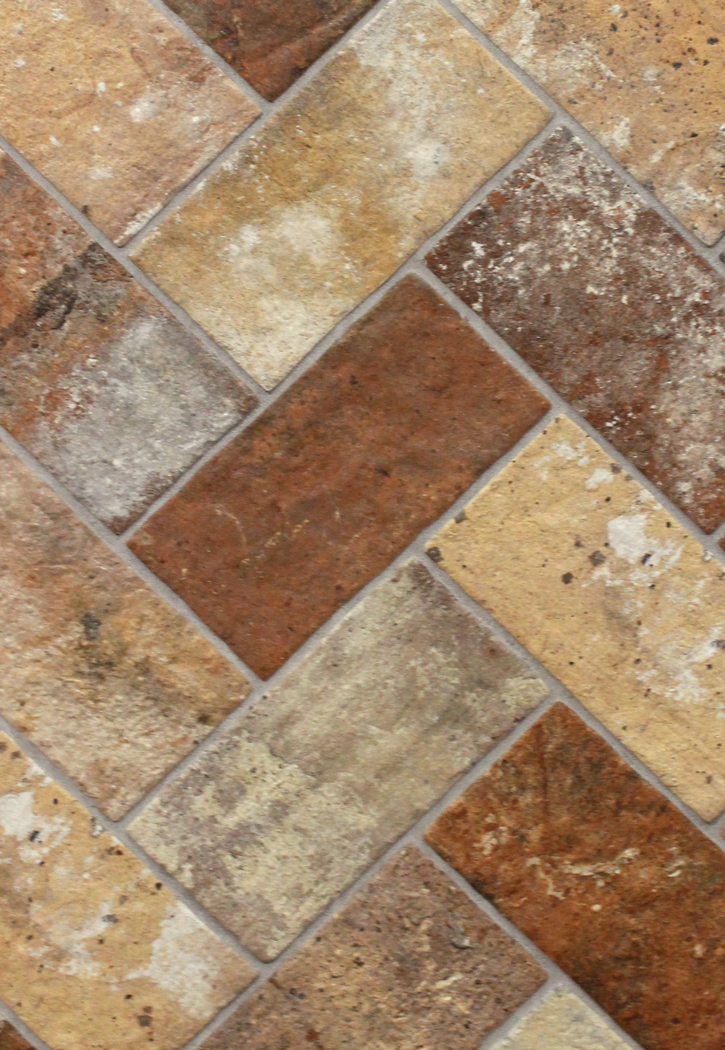 London Brick Multi 5 X 10 Porcelain Floor Tile