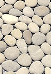 Driftwood Tan Natural Stone Pebble Mosaic Floor or Wall Tile 12