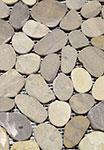 Vitality Mica Grey Natural Flat Stone Pebble Mosaic Floor or Wall Tile 12