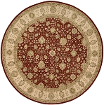 Nourison 3000 3002 Red 8'X8' Round Area Rug - LAST ONE!