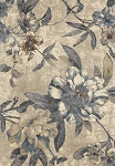 Concord Global Trading Lumina 9561 Roses Ivory-Blue Area Rug