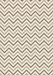 Concord Global Trading New Casa 8622 Chevron Ivory Area Rug