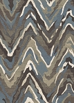 Concord Global Trading New Casa 8676 Waves Blue-Brown Area Rug