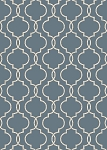 Concord Global Trading New Casa 8826 Quatrefoil Blue Area Rug