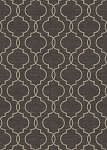 Concord Global Trading New Casa 8828 Quatrefoil Brown Area Rug