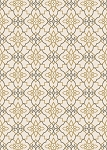 Concord Global Trading New Casa 8831 Trellis Ivory-Yellow Area Rug