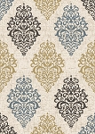 Concord Global Trading New Casa 8851 Damask Ivory-Yellow Area Rug