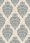 Concord Global Trading New Casa 8855 Damask Ivory-Blue Area Rug