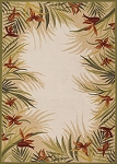 Couristan Covington 2129/1021 Tropic Gardens - Sand-Multi Indoor-Outdoor Area Rug