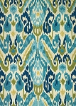 Couristan Covington 2263/0702 Delfina - Azure-Lemon Indoor-Outdoor Area Rug