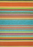Couristan Covington 2296/3067 Sherbet Stripe - Multi Indoor-Outdoor Area Rug
