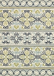 Couristan Covington 3037-7821 Pegasus - Ivory-Navy-Lime Indoor-Outdoor Area Rug