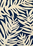 Couristan Covington 3990-0980 Palms - Navy Indoor-Outdoor Area Rug