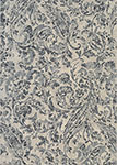 Easton 6877/6353 Prescott Ivory/Black/Grey Area Rug by Couristan