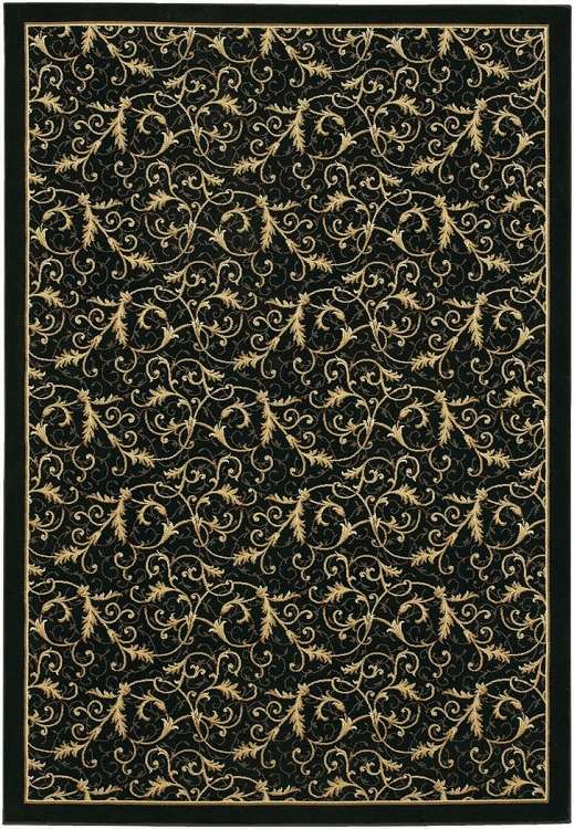 Everest 2863/6214 Royal Scroll Ebony Area Rug by Couristan