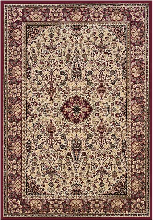 Everest 3760/6004 Ardebil Ivory/Red Area Rug by Couristan