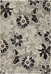 Everest 6351/5313 Wild Daisy Grey-Black Area Rug by Couristan