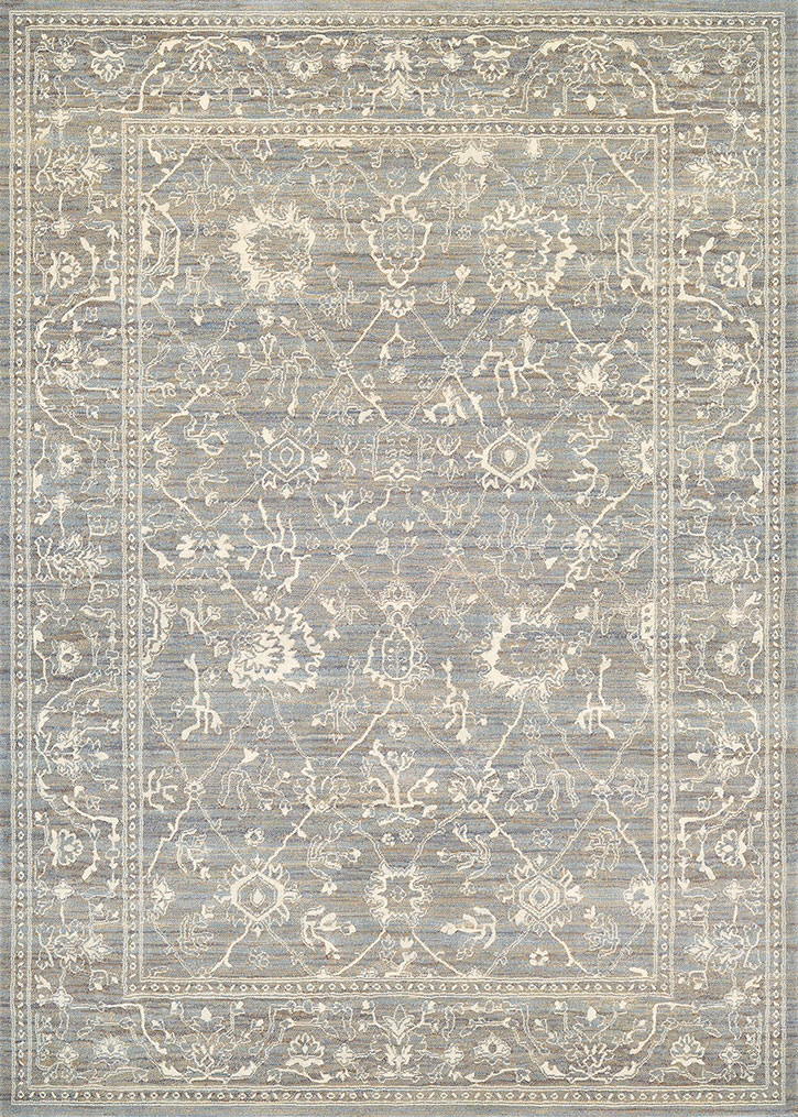 Everest 6340/6323 Persian Arabesque Charcoal/Ivory Area Rug by Couristan