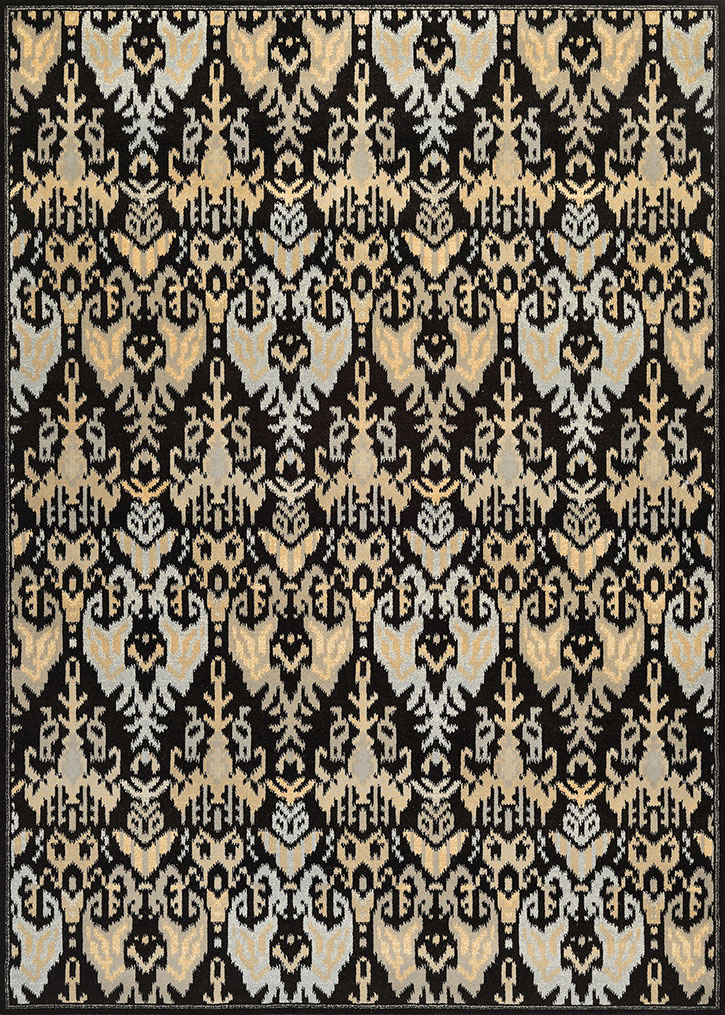 Everest 9126/0619 Zion Black/Teal Area Rug by Couristan
