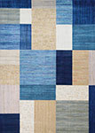 Everest 6303/6141 Geometrics Navy/Bone Area Rug by Couristan