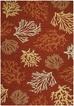 Couristan Outdoor Escape 2134-1140 Sea Reef Terra Cotta Indoor-Outdoor Area Rug