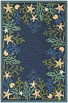 Couristan Outdoor Escape 4092-0409 Sea Water Ocean/Aqua Indoor-Outdoor Area Rug