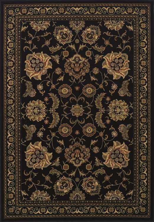 Dalyn Wembley Wb787 Black Traditional Area Rug