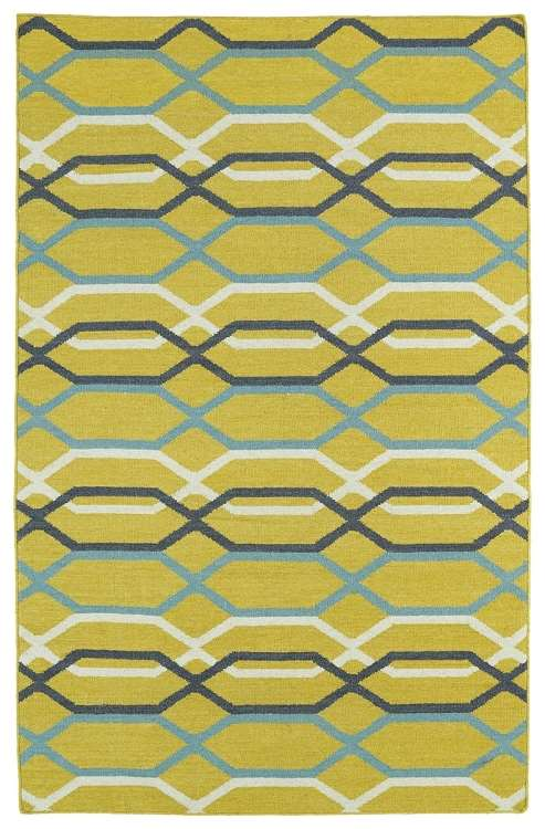 Glam GLA01-28 Yellow Area Rug by Kaleen