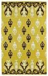 Glam GLA04-28 Yellow Area Rug by Kaleen