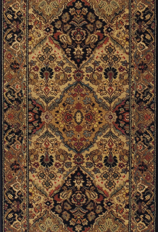 Karastan B724r Empress Kirman Black Hall And Stair Runner