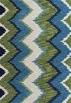 Kas Anise 2420 Blue/Green Chevron Area Rug