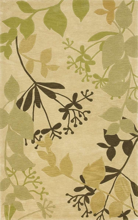 Bali 2821 Ivory Rainforest Area Rug By Kas