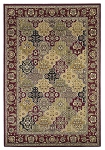Kas Oriental Rugs Cambridge 7325 Red Kashan Panel Area Rug