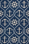 Kas Harbor 4220 Navy Marina Area Rug