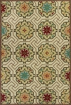 Kas Meridian 2520 Ivory Mosaic Indoor-Outdoor Area Rug
