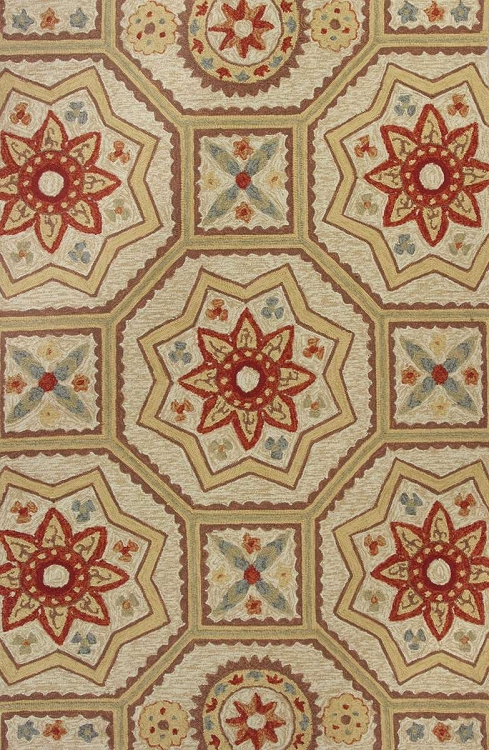 Meridian By Kas Indoor Outdoor Area Rug 2526 Sand Arabesque