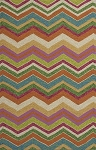 Kas Meridian 2532 Multicolor Chevron Indoor-Outdoor Area Rug