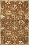 Kas Oriental Rugs Syriana 6004 Coffee Allover Kashan Area Rug