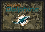 Milliken NFL Camo 3052 Miami Dolphins Area Rug