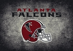 Milliken NFL Distressed Helmet 4004 Atlanta Falcons Area Rug