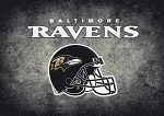 Milliken NFL Distressed Helmet 4007 Baltimore Ravens Area Rug